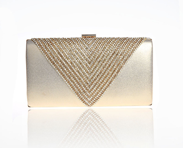 2016 New Design Gold Totes Party Evening Bag Womens Wallet Style Chain Handbag Clutch Banquet Mini Bag Mujer Bolso 11298