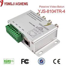 Hot sale 4 Channel UTP CAT5 Camera CCTV BNC Passive Video Balun Transceiver Cable Cord Free Shipping