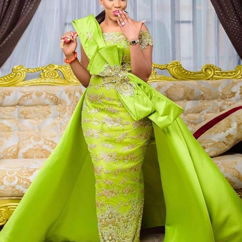 Robe De SoireePlus Size Evening Dress Removable Tail Abiye Gece Elbisesi Long Formal Dresses Evening Gown Abendkleider