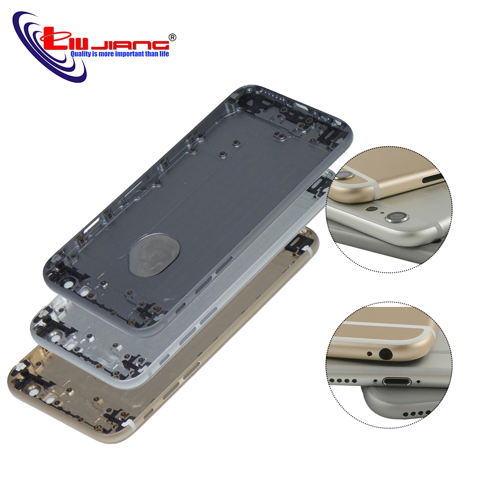 Liujiang New Back Housing For iPhone 6 6G Plus Battery Cover Rear Door Housing Case Middle Chassis with IMEI Replacement parts