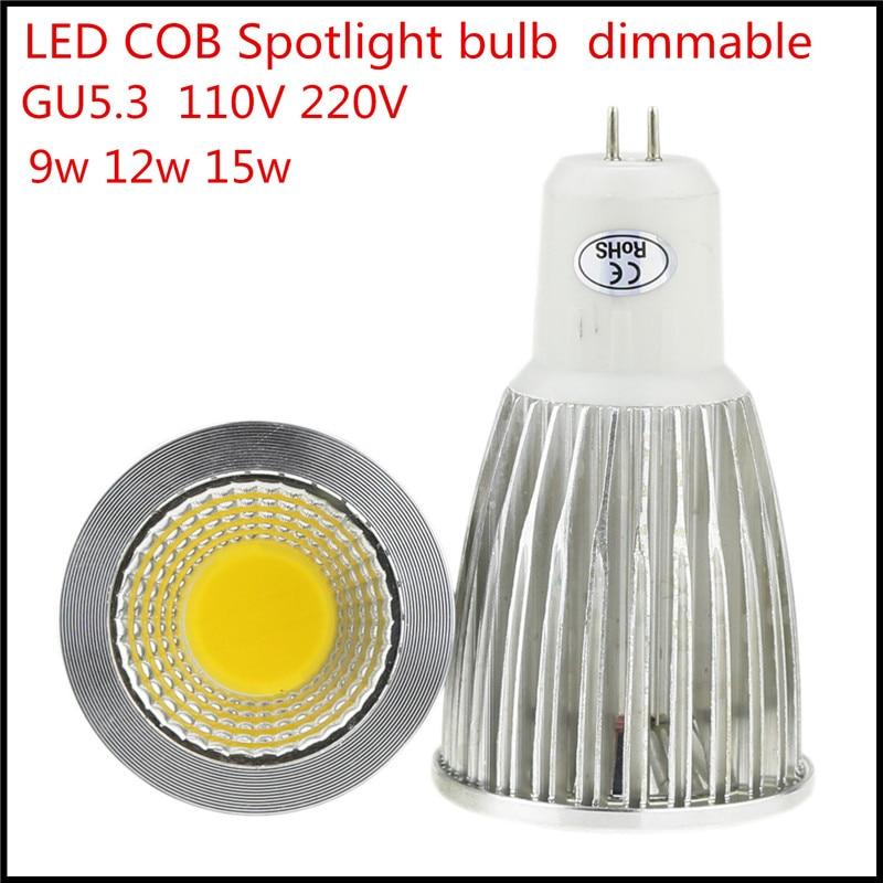 1X розничная продажа лампада <font><b>LED</b></font> 9 Вт 12 Вт 15 Вт светодиодные лампы GU5.3 затемнения светодиодные лампы AC110V 220 В <font><b>LED</b></font> пятно света теплый/холодный белы&#8230;