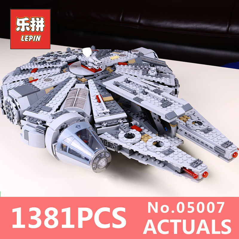 Star Wars Lepin 05007 Model Building Kits Blocks Star Destroyer Small Millennium Falcon toys for bpys LegoINGlys 10467 Gifts lepin 05037 star wars ucs slave i slave no 1 model 2067pcs minifigure building block toys 100
