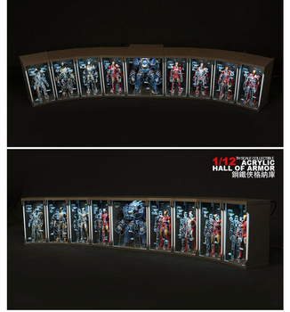 For Collection TOYS-BOX 1/12 Comicave SHF Display Box Fit Iron Man Figure MK45 /MK46 /MK43 /MK42 /MK41/ MK25/MK1 /MK2/ MK5/ MK3