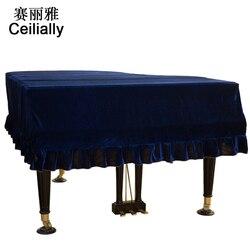 1 PCS Grand Piano Cover Thicken Pleuche Piano Dust Cover Gold Velvet Trigon Piano Cloth Cover Piano Cloth Accessories