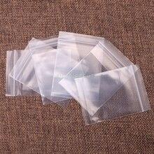 100 pcs Plastic Bags white Grip Self Press Seal Resealable Zip Lock#T025#