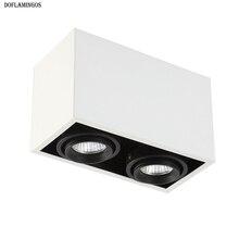 Сетчатый Точечный светильник светодиодный MR16* 2 Белый Черный потолочный светильник регулируемый угол потолочный светильник