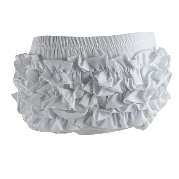 Ruffle Cotton Baby Bloomers Newborn Girls Solid Infant Baby Shorts Diaper Cover Summer Pink Red Purple Black Blue White 0-2 year ruffle hem solid shorts