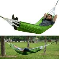 S1 #2017 al aire libre dormir hamaca cama abatible automático ultraligero senderismo acampar al aire libre cama colgante nylon Telas hamaca paracaídas