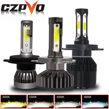 CZPVQ 2 Pcs Mini Size H4 H7 H11 LED Canbus 3000K 4300K 6500K 8000K Car Headlight H1 H3 H8 H9 9005 9006 880 LED Auto Fog Light(China)