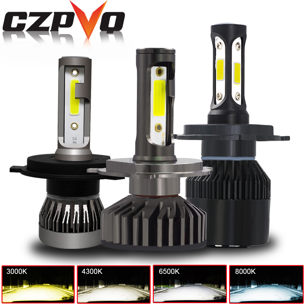 CZPVQ 2 Pcs Mini Size H4 H7 H11 <font><b>LED</b></font> <font><b>Canbus</b></font> 3000K 4300K 6500K 8000K Car Headlight H1 H3 H8 <font><b>H9</b></font> 9005 9006 880 <font><b>LED</b></font> Auto Fog Light image