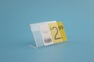 Image 2 - 4*6CM 50 pcs L label holder acrylic label price tag card display frame stand label frame table desk sign stand label holder case