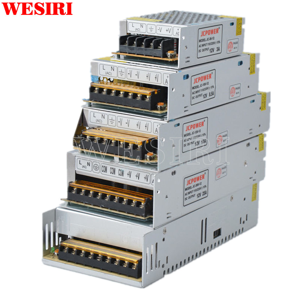 Led Strips Persevering 12v Switch Led Power Supply Transformer 1a/3a/5a/6.5a/8.5a/10a/12.5a/15a/16.5a/20a/25a/30a/40a/50a/60a Soft And Light