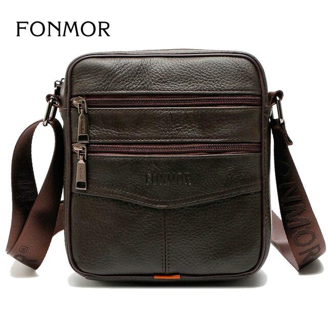 FONMOR 2018 Novo Multifunções Grande-Capacidade Leatherr Genuíno Saco Do Mensageiro Dos Homens Fashion Business Casual Bag Bolsas de Ombro