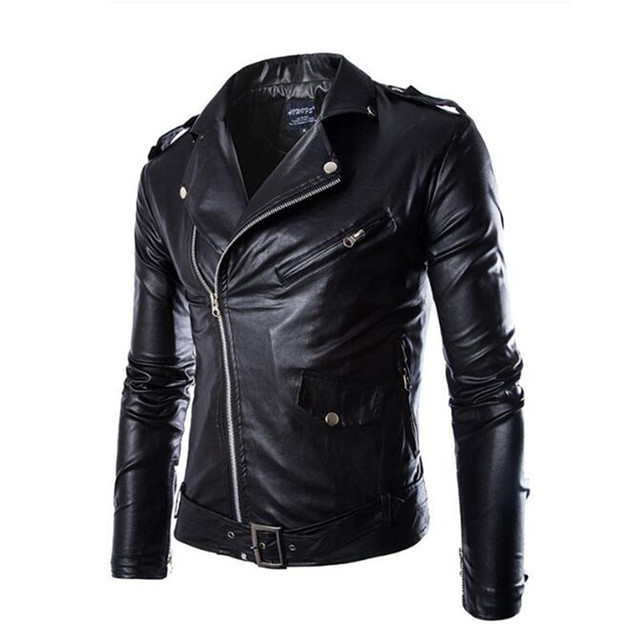New Spring Autumn PU Leather Jacket Men Slim Short Stand Collar Jaqueta Couro Bomber Jacket Faux Leather Motorcycle Jacket Coat