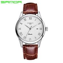 SANDA Hombres Moda Reloj de Cuarzo Mujeres Relojes de Primeras Marcas de Lujo de Las Señoras Relojes Reloj Hombre Correa de Cuero Relogio masculino