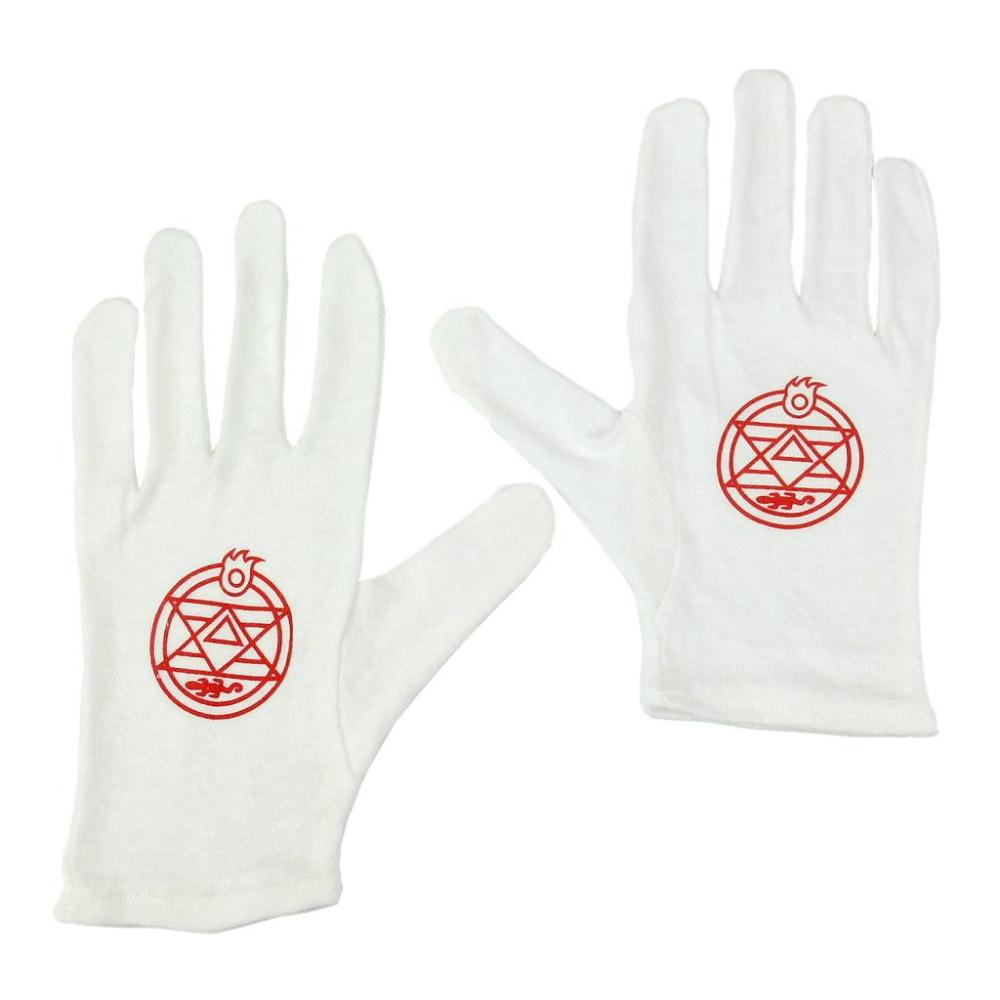 Anime Fullmetal Alchemist Colonel Roy Mustang Edward Elric Gloves Cosplay 22cm