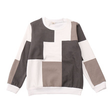 Children's new style T-shirt Boy's casual long sleeve T-shirt Sweater for boy plaid pattern Children's fashion long-sleeved vest