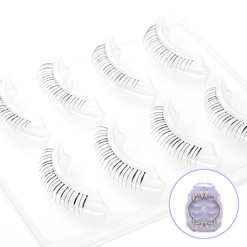 ICYCHEER 4 Pairs Lightweight Japanese Lower Under Bottom Eye Lashes Extenson Fake Eyelash Handmade Natural Look Makeup Beauty