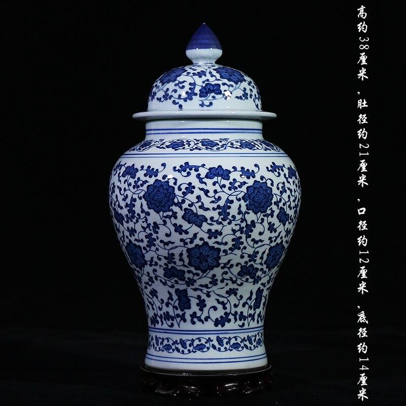 jingdezhen ceramic temple jars antique porcelain ginger jars decorative vases ceramic jar with hand painted design - Ginger Jars