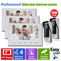 Homefong 7 Inch Video Intercom System Touch Screen Wired Video Door Phone with Picture/Photo/Video Recording SD Card Support