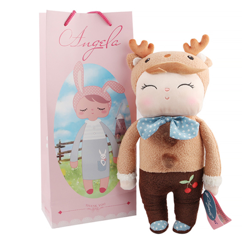 Plush Sweet Cute Lovely Stuffed Baby Kids Toys for Girls Birthday Christmas Gift 13 Inch Deer Angela Rabbit Girl Metoo Doll 13 inch kawaii plush soft stuffed animals baby kids toys for girls children birthday christmas gift angela rabbit metoo doll