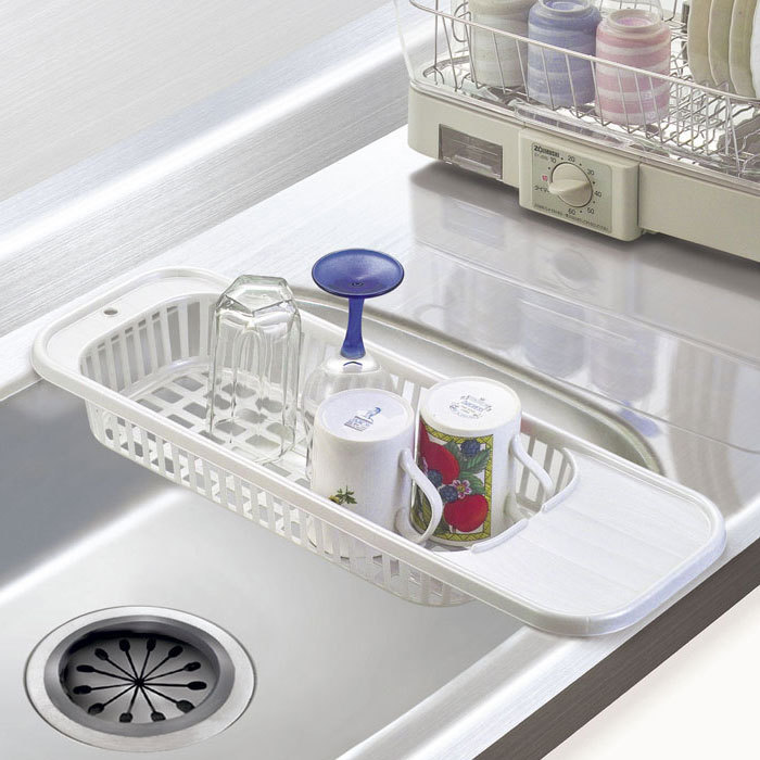 Kitchen Sink Drain Rack Cutlery Shelving Treatment Of Fruits And Vegetables New Compact Dish Set Drying Utensil Drainer In Storage Baskets From Home