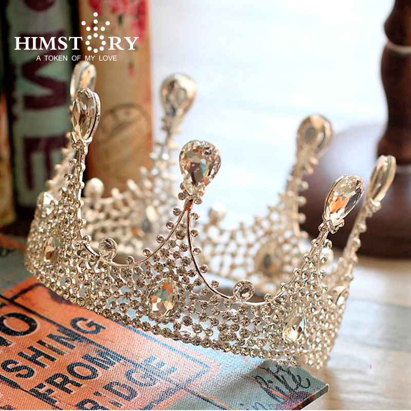 Fashion New Arrival Gorgeous Clear Crystal Wedding Queen Big Rhinestone Bridal Crown  Tiaras Diadem Hair Jewelry