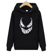 Hoodies New Fashion We Are Venom Letter Print Sweatshirt Men Hoodies Fashion Solid Hoody Men Pullover Men Tracksuits Male Coat недорого
