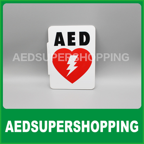 Aed Projection And Flanged Sign 90dl Shaped 7 X 10 Legend Aed
