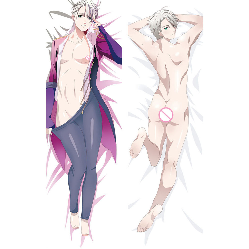 Japanese Anime YURI!!! on ICE Hugging Pillow Cover Case Pillowcase Decorative Pillows Male 2Way 50*160cm