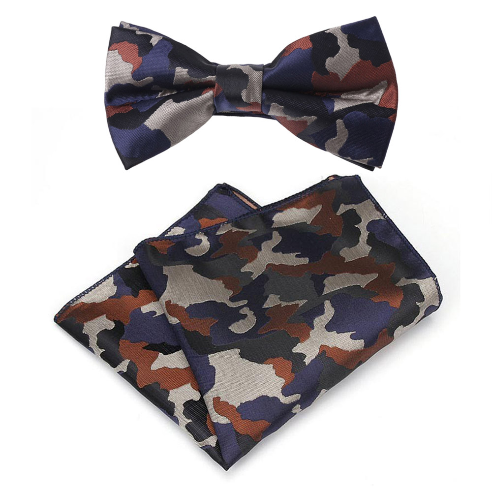Apparel Accessories Able Men Camouflage Bow Tie Handkerchief Wedding Party Pocket Square Matching Set Bwtqn0093 Sufficient Supply