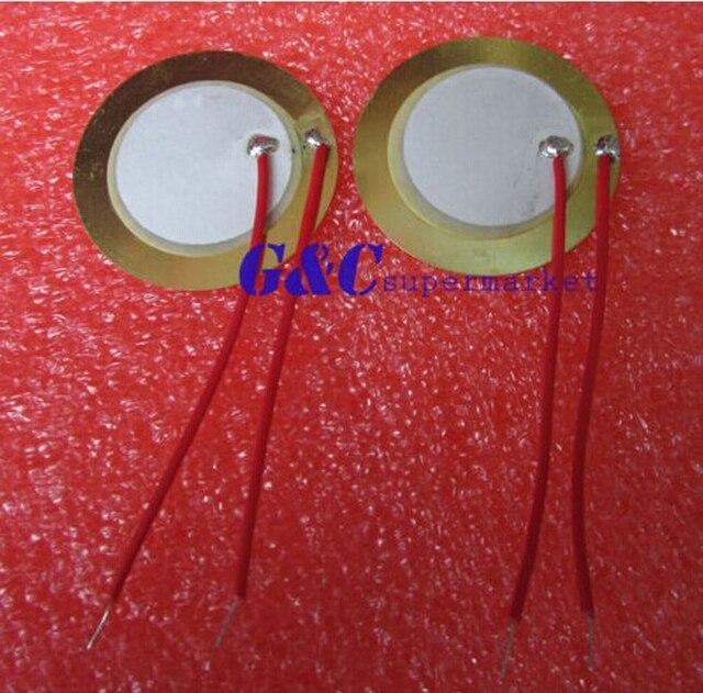 20PCS 27mm Piezo Elements Sounder Sensor Trigger Drum Disc + wire copper