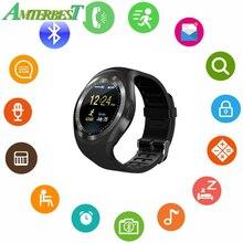 AMTERBEST Bluetooth Relógio Inteligente Atividade Rastreador Sono Monitor de Calorias Pedômetro de Fitness Apoio Pista SIM/Cartão SD Solt