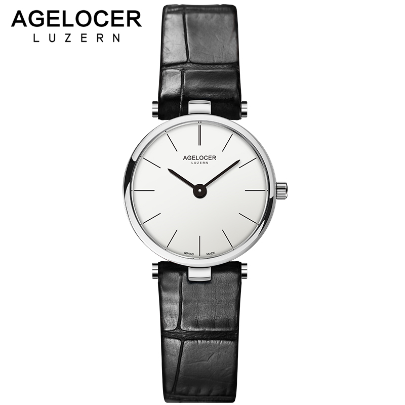 AGELOCER Swiss Brand Luxury Ladies Watch Fashion Leather Wrist Quartz Girl Watch for Women Dress Watches Clock Relogio Feminino relogio feminino sinobi watches women fashion leather strap japan quartz wrist watch for women ladies luxury brand wristwatch