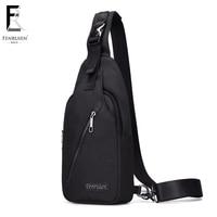 FRN New Male Chest Bag Fashion Leisure Waterproof Man Oxford Cloth Korea Style Messenger Shoulder Bag