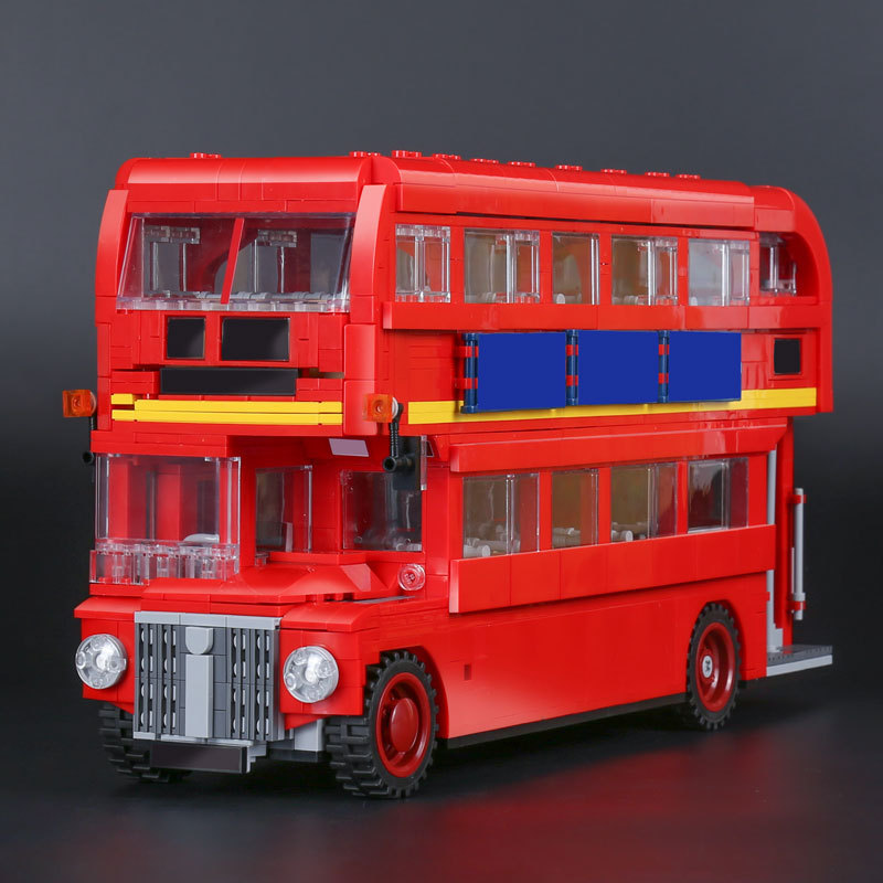 21045 Genuine Technic City Series The London Bus Set Building Blocks Bricks 10258 Educational Toys Children Gift Lepin 1716Pcs lepin 02006 815pcs city police series the prison island set building blocks bricks educational toys for children gift legoings