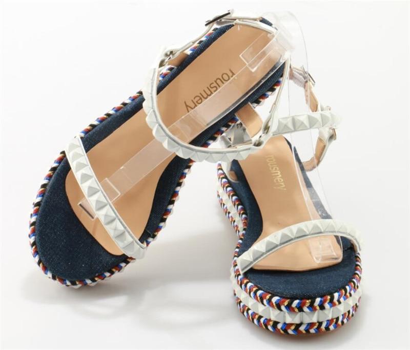 Plate Femmes De Fond Pic Belle Robe forme Blanc Chaussures Mode Design Sandales Haute Verre Cheville Sangle AnWgrxYnS