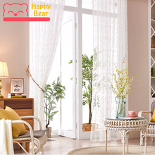 Happy Bear Tulle Curtain Polyester Embroidered Window Curtains for Bathroom High Perspective Curtain Customized with Accessories