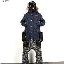 LTVT брендовый лыжный костюм для мужчин/женщин, куртки для сноубординга+ штаны, теплые зимние пальто, дышащие камуфляжные водонепроницаемые лыжные комплекты