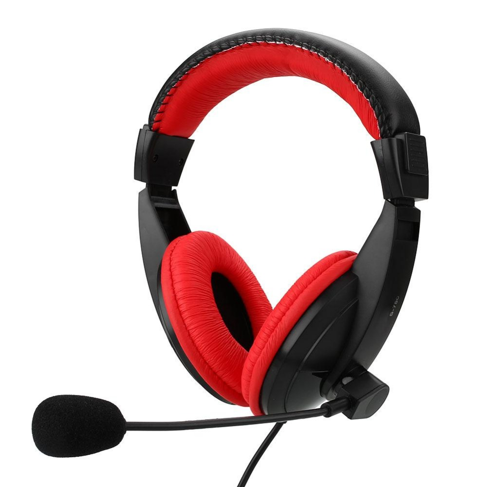 1 6m wired gaming stereo headphone bass game headset with mic for pc computer headset. Black Bedroom Furniture Sets. Home Design Ideas