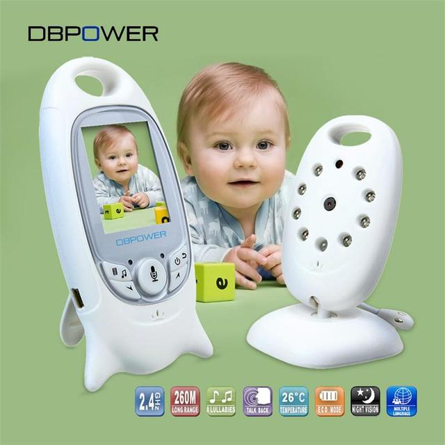 DBPOWER VB601 Video Baby Monitors Wireless with 2 Inches LCD Screen 2 Way Talk IR Night Vision Temperature Security Camera