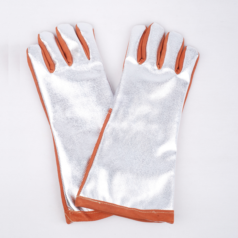 high temperature protective cow leather +tinfoil work gloves heat resistant insulated full lining . insulated gloves electric gloves 5kv anti live live work high pressure live work labor protection protective rubber gloves