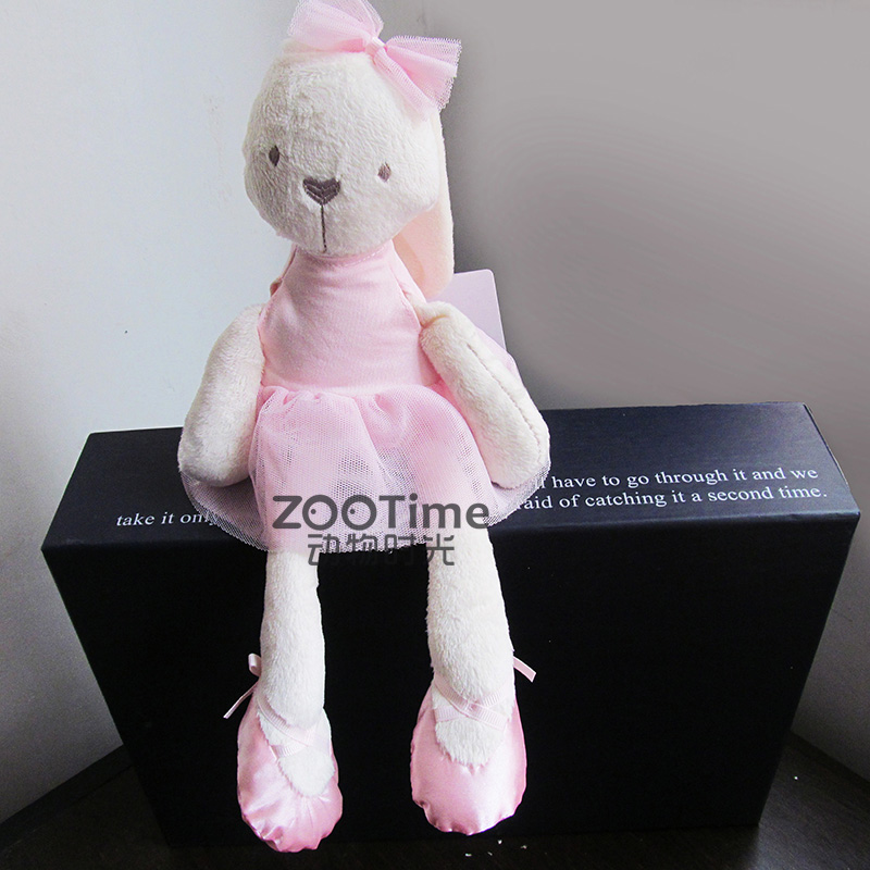 soft baby plush toy lovely pink rabbit birthday gift  infant doll sleeping rabbit  bunny  ballerina 50cm cute plush toy kawaii plush rabbit baby toy baby pillow rabbit doll soft children sleeping doll best children birthday gift