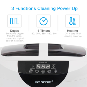 Image 3 - GTSONIC VGT 6250 Digital Ultrasonic cleaner 2500ML for Fruits Vegetables Home Kitchen Ultrasonic Baths