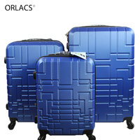 ORLACS Classic Unisex Spinner Luggage Aluminum alloy Traveling Family suit Rolling Password Lock Cabin Suitcase Bags 20 24 28