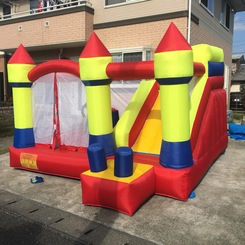Oxford Inflatable Bouncer Jumping Bouncy Castle Toys Bouncing Castle Bouncer Bounce House Jumper with Slide Castle For Sale slide combo bounce house inflatable bouncer castle hot toys great gift