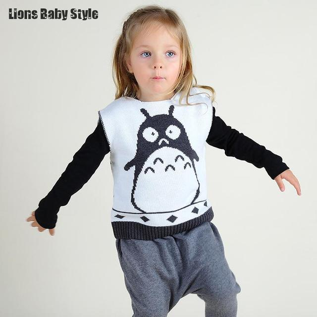 c8c6e9acc Totoro Cartoon Knitted Kids Baby Boys Girls Clothes Colete Vests For ...