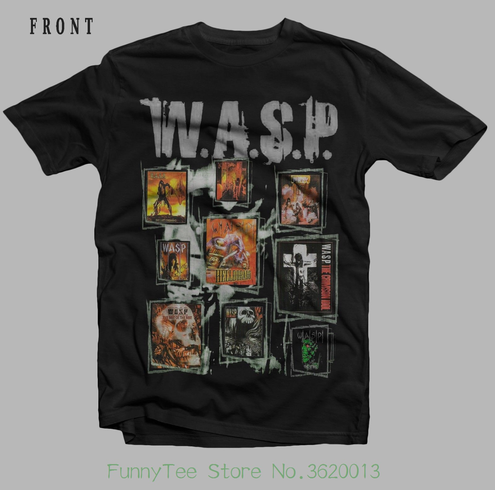 W.a.s.p. - heavy Metal Band - ratt - quie < Wbr / > T Riot , T _ Shirt - sizes : < Wbr / > S To 7xl