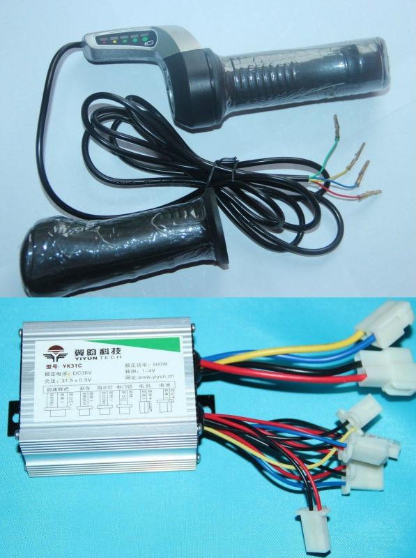 500W 36V Motor Brushed Speed Controller Throttle Twist Grip for ...
