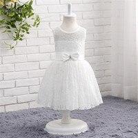 White Ivory Lace Flower Girl Dresses For Wedding Tank Cap Sleeves First Communion Dresses Prom Dress